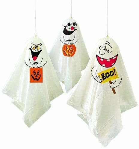 Halloween Party Decorations Pack of 3 Hanging Spooky Ghost Decorations